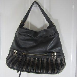 Big Buddha Detailed Black Satchel Handbag